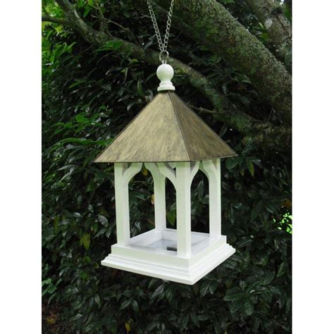Handmade Bird Tables - large handmade wooden hanging bouley bird table by garden