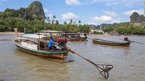 thai boat drawing long tail boats draw tourists to southern thailand cnn