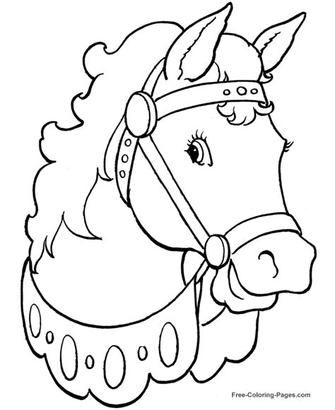 Free Coloring Pages Of Girl In Pony Trap | printable horse coloring pages 004