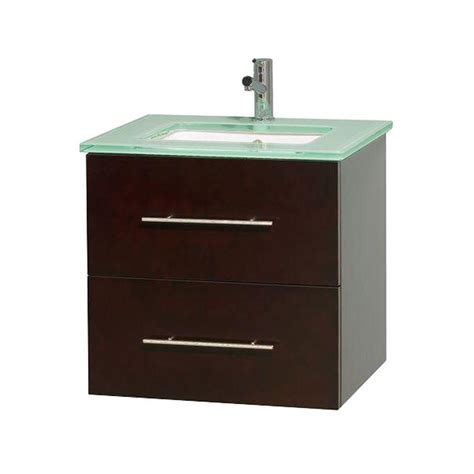 Green Vanity Top by Wyndham Collection Centra 24 In Vanity In Espresso With