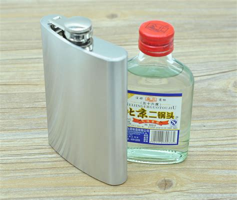 Botol Bir Hip Flask Stainless Steel Leather 7oz botol minum wine bentuk kotak 8oz silver jakartanotebook