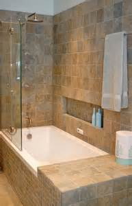 Bath And Shower Combined Shower Tub Combo With Shampoo Ledge And Small Side Lip No