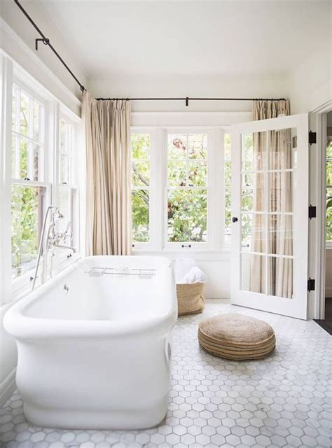Neutral Curtains Window Treatments Designs 3 Bathroom Window Treatment Types And 23 Ideas Shelterness