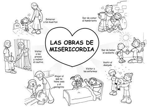 imagenes de alimentos espirituales dibujos para catequesis las obras de misericordia