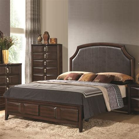California King Leather Headboard by Coaster Casper Deco Style California King Bed