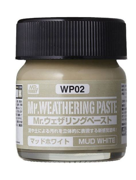 Mr Spare Bottle 80 Ml Mr Hobby mr hobby wp02 mr weathering paste mud white 40ml