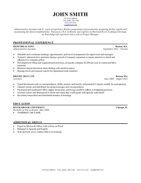 resume exle expert preferred resume templates resume genius