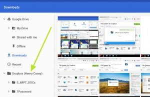 use dropbox on a chromebook and add it to file manager