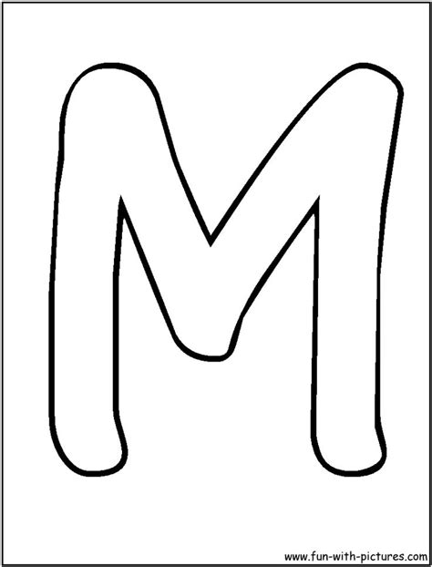 bubble letters m coloring page alphabet coloring pages