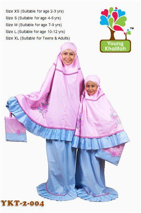 Promo Mutif 115 Size 10 Dan 12 Tahun Baju Muslim Anak telekung set dan anak saida sadhana