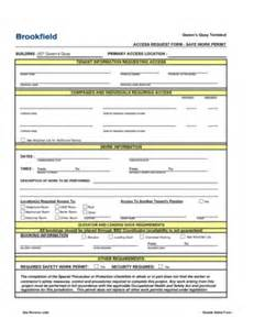 Permit To Work Template by Safety Work Permit Format Fill Printable