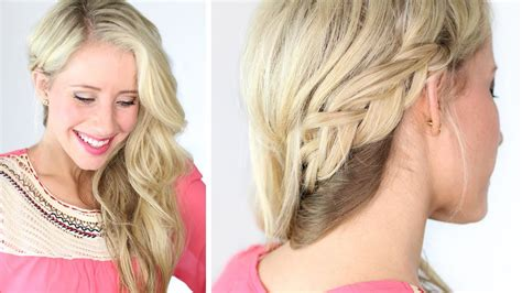 hair style for women with one side of head shaved braided to one side a wedding prom hairstyle youtube