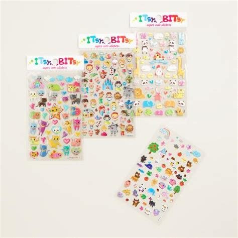 Itsy Bitsy Animals itsy bitsy animal stickers set of 4 world market