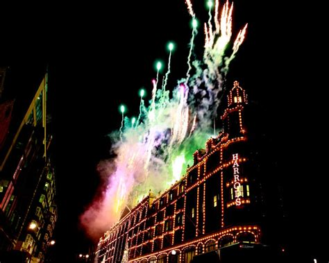 fireworks pictures harrods christmas lights switch on