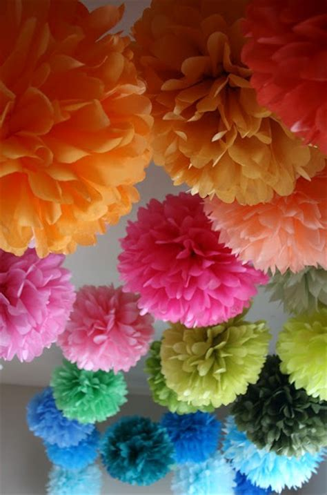 How To Make Large Pom Poms With Tissue Paper - how to make tissue pom paper flowers design dazzle