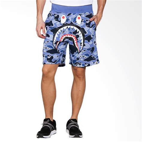 Celana Sweat jual a bathing ape sta camo shark sweat shorts celana