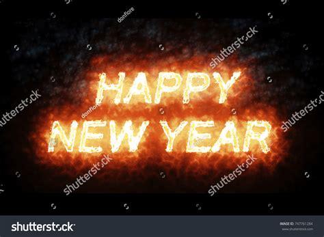 burning money for new year burning happy new year word stock illustration