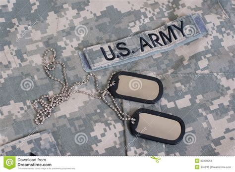 us army tags us army camouflaged with blank tags stock images image 30308064