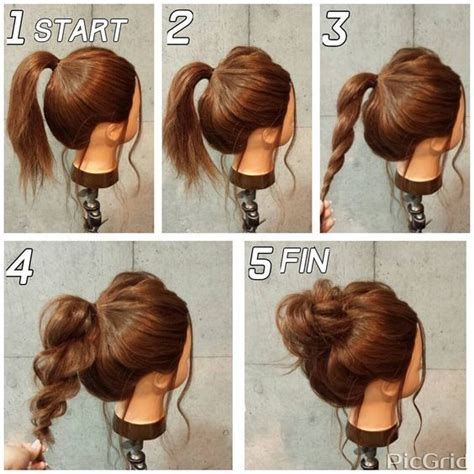how to make easy hairstyles with pictures super easy messy bun in 5 simple steps makeup mania