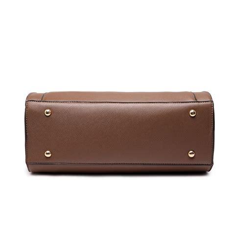 Square Pocket lt1650 miss lulu textured leather look square pocket shoulder handbag brown
