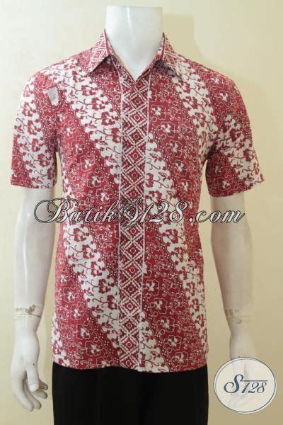 Batik Pria Hem Batik Kemeja Batik Sarang Merah jual hem batik klasik warna modern batik merah kombinasi