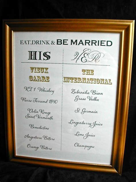 diy diy wedding signature cocktail menu 2351365 weddbook