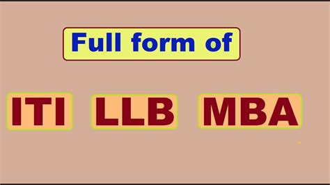 Marshall Mba Wants To Get Out Of Mba Ranking by Form Of Iti Llb And Mba