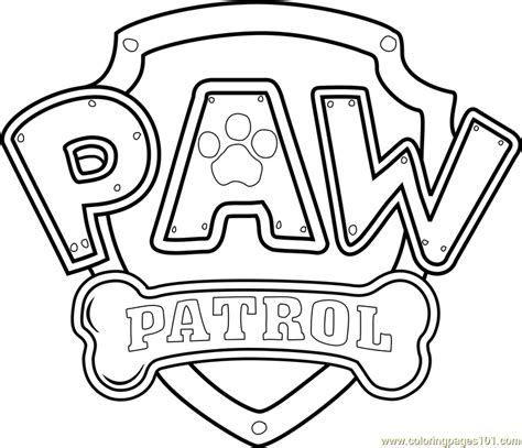 Paw Patrol Badge Template Pdf Paw Patrol Logo Coloring Page Free Paw Patrol Coloring Pages Paw Patrol Badge Template Printable