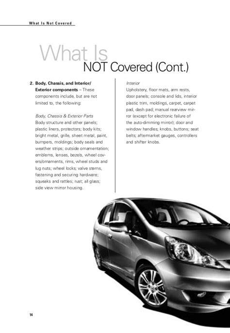 Honda Certified Warranty by Honda Certified Used Cars Warranty Booklet For El Paso