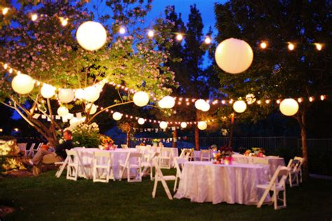 Backyard Wedding Lighting Ideas The Basics Of A Backyard Wedding Articles Easy Weddings