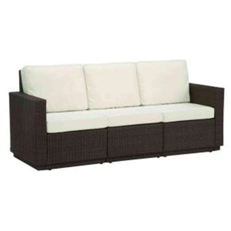 Home Depot Sofa Home Styles Riviera Stone 3 Seat Patio Sofa 5801 61 The