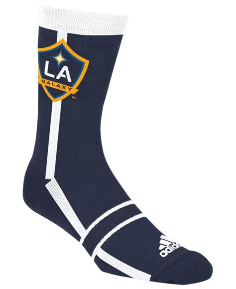 la galaxy colors lyst adidas la galaxy mid team color stripe socks in