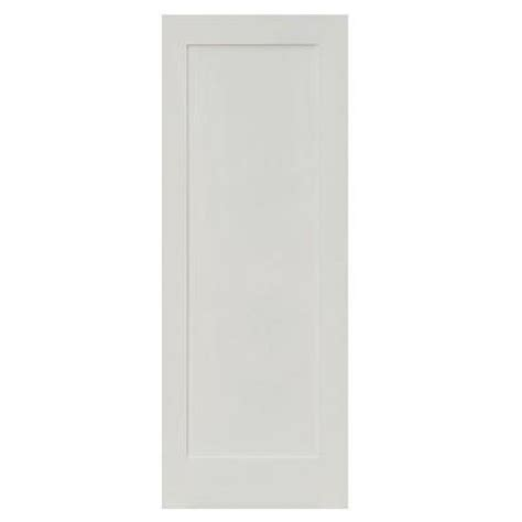 home depot solid core krosswood doors 36 in x 80 in shaker 1 panel primed solid mdf right single prehung
