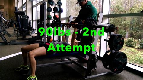 strongest bench press pound for pound bench press 90 pounds working up to triple digits youtube
