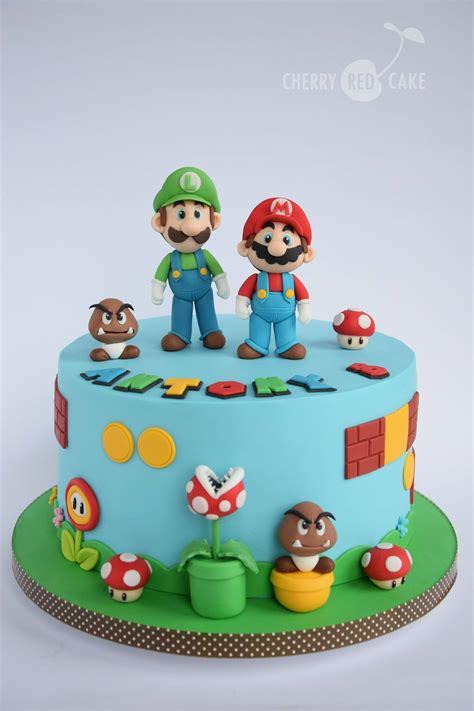 Bross Cherry mario cake for landon s birthday rkt y tartas