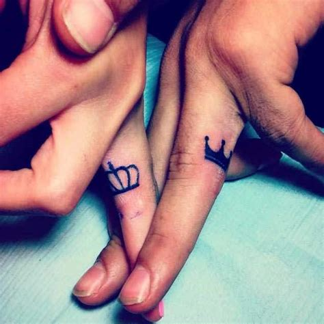crown tattoo on finger meaning simple diamond and crown tattoo design idea for finger