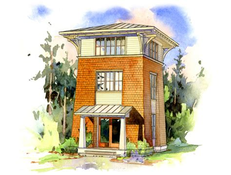 Tower House Plans | the alder tower perfect little house