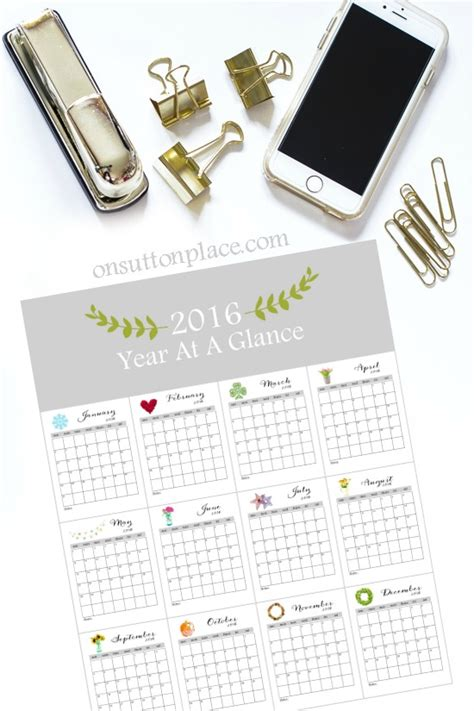 2016 printable monthly calendar on sutton place 2016 printable monthly calendar on sutton place
