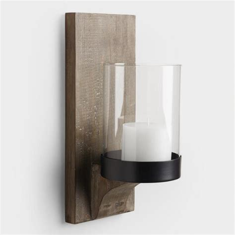 Rustic Candle Wall Sconces Rustic Wood Sconce World Market