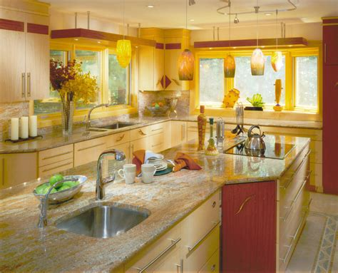kitchen arrangement ideas yellow kitchens