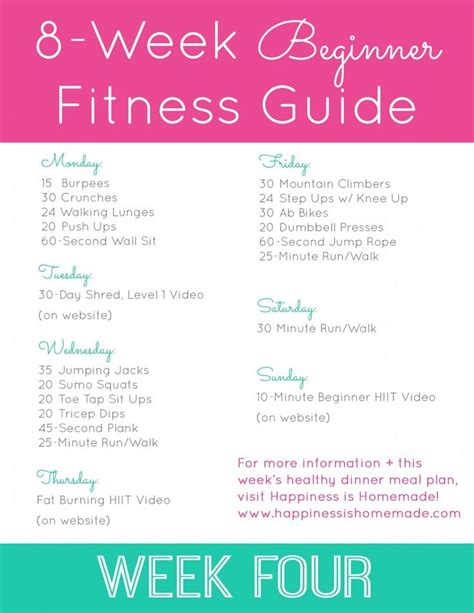 best 25 beginner fitness plan ideas on