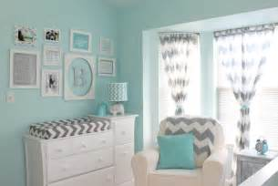 Gray Curtains For Nursery Aqua And Gray Chevron Nursery Project Nursery