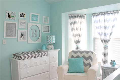 Aqua And Gray Chevron Nursery Project Nursery Aqua Nursery Decor