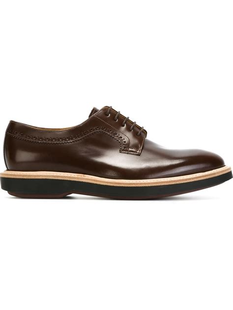 brown derby shoes paul smith derby shoes in brown for lyst
