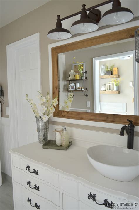 farmhouse bathroom farmhouse master bathroom reveal little vintage nest