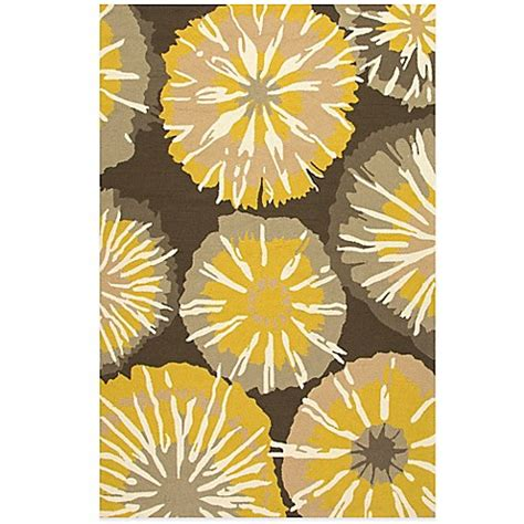 Yellow And Grey Outdoor Rug Jaipur Barcelona Starburst Indoor Outdoor Rug In Yellow Grey Bed Bath Beyond