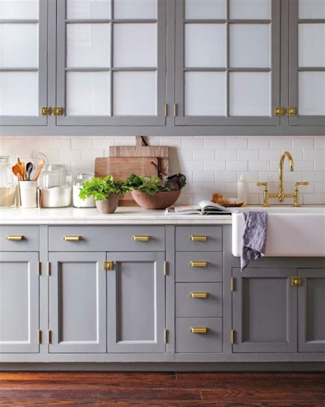 slate grey kitchen cabinets why you should incorporate brass into your kitchen asap