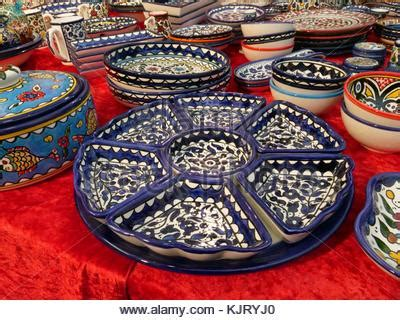 painted plates for sale at a market in kiev, ukraine