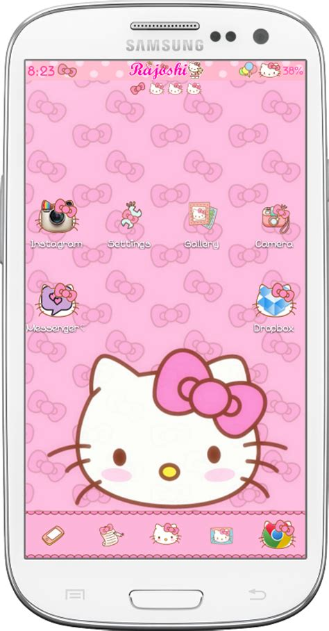 go launcher themes hello kitty apk pretty droid themes hello kitty loves bow go launcher theme