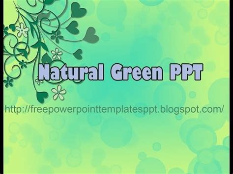 free download theme powerpoint nature free nature green leaves powerpoint template to download